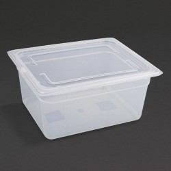 Vogue Polypropylene Gastronorm Pan 1/2 with Lid 150mm