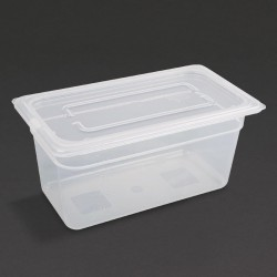 Vogue Polypropylene Gastronorm Pan 1/3 with Lid 150mm