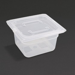 Vogue Polypropylene Gastronorm Pan 1/6 with Lid 100mm