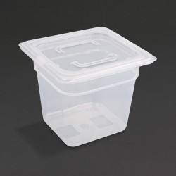 Vogue Polypropylene Gastronorm Pan 1/6 with Lid 150mm
