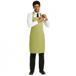 Le Chef Polycotton Bib Apron Lime