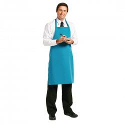 Le Chef Polycotton Bib Apron Teal
