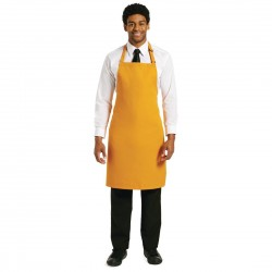 Le Chef Polycotton Bib Apron Orange