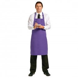 Le Chef Polycotton Bib Apron Purple
