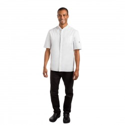 Le Chef Contemporary Unisex Prep Shirt White M