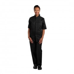 Le Chef Contemporary Unisex Prep Shirt Black XS