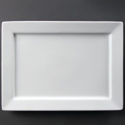 Olympia Wide Rim Rectangular Platter 400 x 295mm