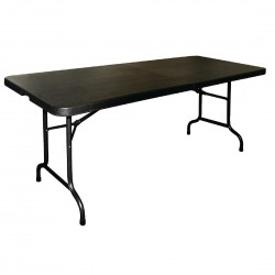 Bolero Centre Folding Utility Table 6ft Black
