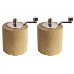 Olympia Bamboo Salt  Pepper Mill Grinder Set
