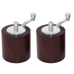 Olympia Dark Wood Salt  Pepper Mill Grinder Set