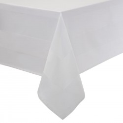 Satin Band Tablecloth White 137cm