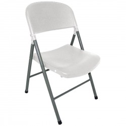 Bolero Foldaway Utility Chairs White (Pack of 2