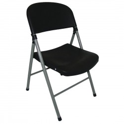 Bolero Foldaway Utility Chairs Black (Pack of 2