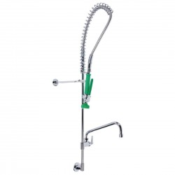 3monkeez Concealed Mount Pre-Rinse Tap with 12in Pot Filler Green