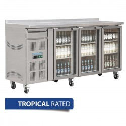 Polar 3 Door Premium Bar fridge