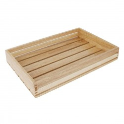Olympia Low Sided Wooden Crate