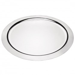 Olympia Food Presentation Tray Stainless Steel Round 350mm