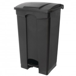Jantex Kitchen Pedal Bin Black 65Ltr