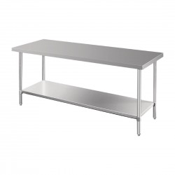 Vogue Premium Stainless Steel Prep Table 1800mm