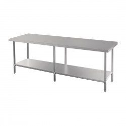 Vogue Premium Stainless Steel Table 2100mm
