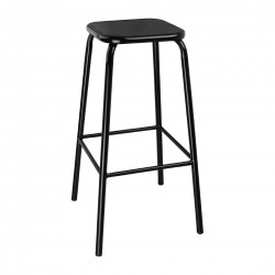 Bolero Black High Stool with Metal Seatpad (Pack of 4