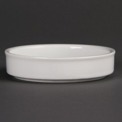 Olympia Mediterranean Stackable Dishes White 102mm