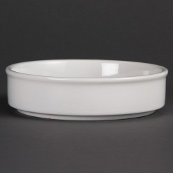 Olympia Mediterranean Stackable Dishes White 134mm