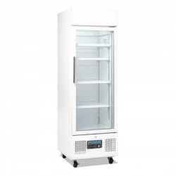 Polar Upright Display Cabinet 218Ltr White