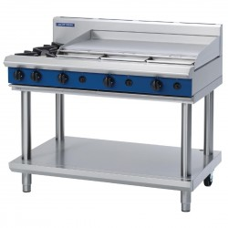 Blue Seal by Moffat Freestanding 2 Burner Propane Gas Cooktop with Griddle Plate G518A-LS