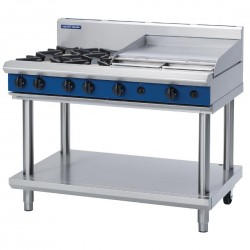 Blue Seal by Moffat Freestanding 4 Burner Propane Gas Cooktop with Griddle Plate G518B-LS
