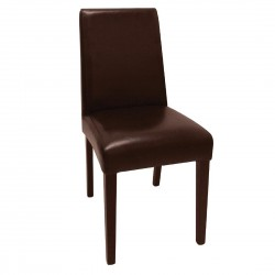 Bolero Faux Leather Dining Chairs Brown (Pack of 2