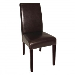 Bolero Curved Back Leather Chairs (Pack of 2