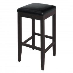 Bolero Faux Leather High Bar Stools Black (Pack of 2