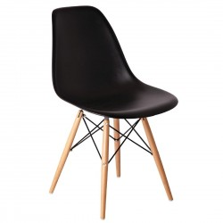 Bolero Black Polypropylene Replica Eames Chairs (Pack of 2