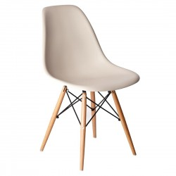 Bolero Beige Polypropylene Replica Eames Chairs (Pack of 2