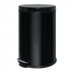 Black Stainless Steel Pedal Bin