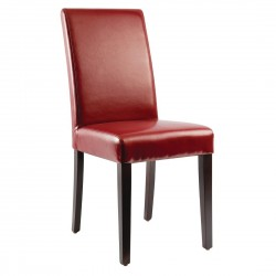 Bolero Faux Leather Dining Chairs Red (Pack of 2