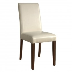 Bolero Faux Leather Dining Chairs Cream (Pack of 2