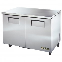 True Undercounter Fridge 2 Door Stainless Steel
