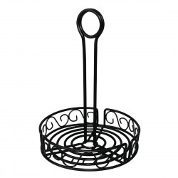 Olympia Wire Condiment Holder Black