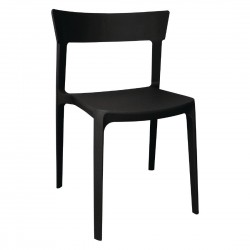 Bolero Black Polypropylene Bistro Side Chairs (Pack of 4