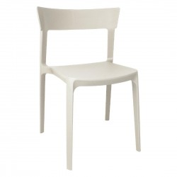 Bolero Beige Polypropylene Bistro Side Chairs (Pack of 4