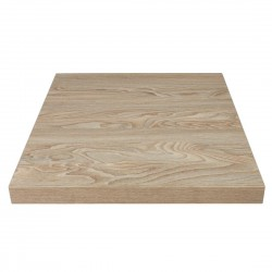 Bolero Pre-drilled Square Table Top Antique Natural 600mm