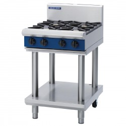 Blue Seal by Moffat 600mm Cooktop with 2 Burners and Griddle LPG G514C-LS