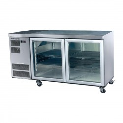Counterline Slim 2 Glass or Solid Door Undercounter Chiller C/W Castors