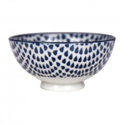 Gusta Out Of The Blue Drops Round Bowl Blue 100mm