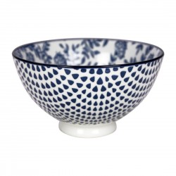 Gusta Out Of The Blue Flowers Round Bowl Blue 135mm