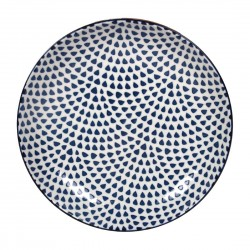 Gusta Out Of The Blue Drops Flared Round Bowl 215mm