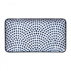 Gusta Out Of The Blue Drops Rectangular Plate 225mm