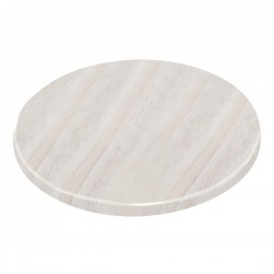 Bolero Pre-drilled Round Table Top Whitewash 600mm